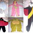 NEWBORN & INFANT HALOWEEN COSTUME SLEEPER PUPPY/ DRACULA/LADY BUG/FLOWER/DRAGON