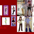 COSTUMES 4 EVERY ONE HIPPIE GOTHIC MERMAIDS WITCHES NaTASHA RE RIDING HOOD SOCK