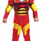 Toddler Muscle Chest Iron Man Costume free shipping with buy it now price new