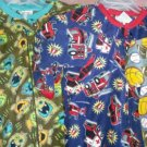 Carters footeded  pajamas 4 boys new many sizes sports@monsters@fire trucks NEW