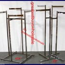 3 clothing racks chrome 4-Way  w/ wheels adjustable pick up only variety