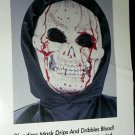 Bleeding Face Grim Reaper Boy's  Costume Size Medium 8-10 Boys NEW bx161