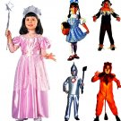 Wizard of Oz Scarecrow /Dorthy/ Lyion/ Tin childs Costume & Glinda the good wITC