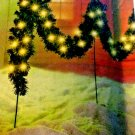 12 FT GARLAND WITH LIGHTS AND STAKES NEW MUST SEE