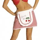 WOMANS CHERRY Pie or Strawberry costum sz 6-12 Sparkle Red Bra  Pinup Gingham
