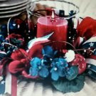 patriotic pillar holder american candle holder remember who we are NEW