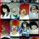 costume wigs from clowns witches rock star USE FOR THE BEST COSTUMES OR EVERYDAY