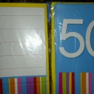 50TH PARTY INVITATIONS Fiftieth Fill In Invite Cards Celebration 16pc+envelopes