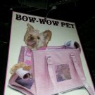 "Bow Wow Pet Carrier BLACK Large 16' x 11"" x 9"" for Pets up to 22 Pounds NEW"