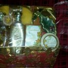 9pc Christmas bath and body lotion gift set in a wired basket gingerbread smell