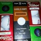 Titleist DT roll Kraft Food Logo 2 3pc box 1Top Flight 3pc long dist Golf Balls
