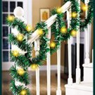 Fun foil garland lighted garland Great indoors and out Measures 19.6 FT LONG NEW
