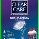 Clear Care 3% Hydroge Peroxide Disinfecting Solution Twin Pack 2 pak+LENS CASE