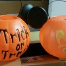 NEW 4 Halloween Blow Mold Mickey Mouse Trick orTreat Mickey Mouse Buckets/PAILS