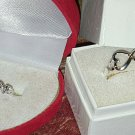 LOVE RING DIAMOND DUST 925 STERLING SILVER OR Forever Love Double Heart Infinity