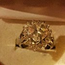 LARGE 2.5 HEART CZ PRINCE RING W/ 16 STONES valentine day W/HEART GIFT BOX SZ 7