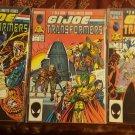 3 GI JOE AND THE TRANSFORMERS #2 #3#4 1986 Marvel US Comic Book