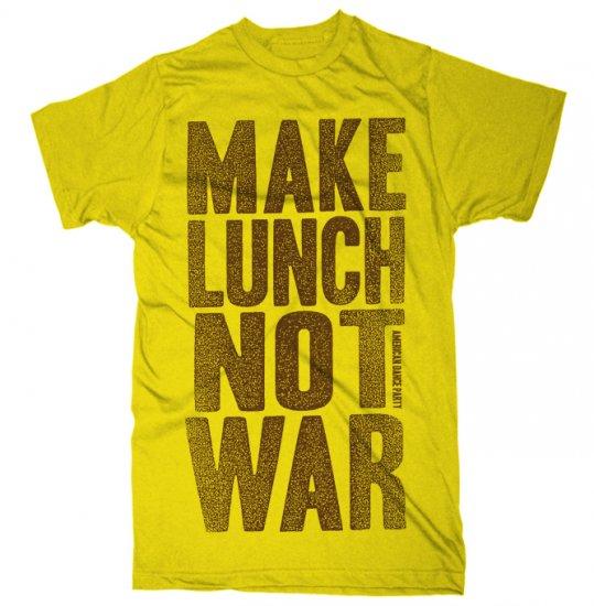 Make Lunch Not War T-Shirt yellow