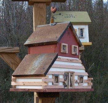 Primitve Cabin Barn Birdhouse
