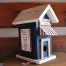 Blue Bird Cafe Birdhouse