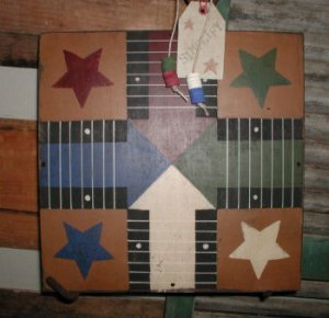 Primitive Star Parcheesi Board