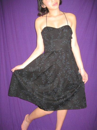 FOREVER 21 Cotton Black Spring Summer Halter Dress - S