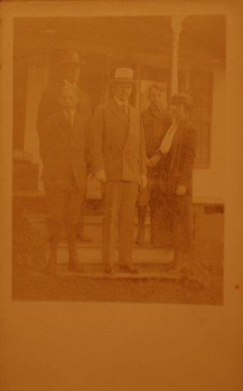 Coolidge Family RPPC