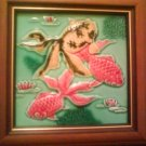 Antique Tile - Goldfishes