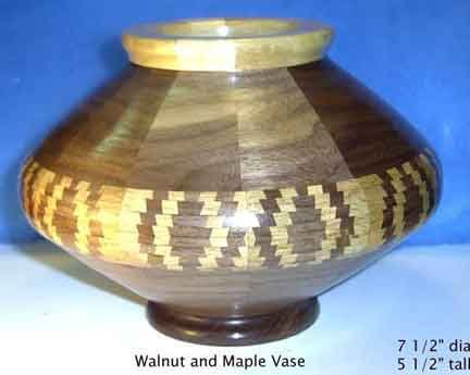 Walnut and Maple Vase