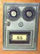 Post Office Box door Dual Dial