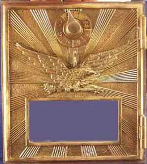 Post Office Box door Eagle with sun rays (medium)