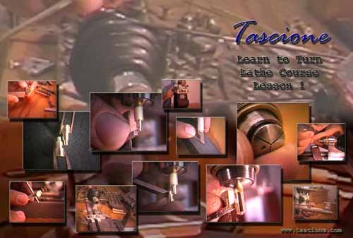 """Tascione """"Learn to Turn Lathe Course, Lesson 1"""" 2 DVD's"""
