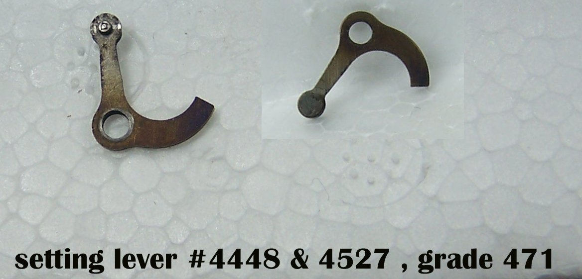 part#4448 or 4527 setting lever