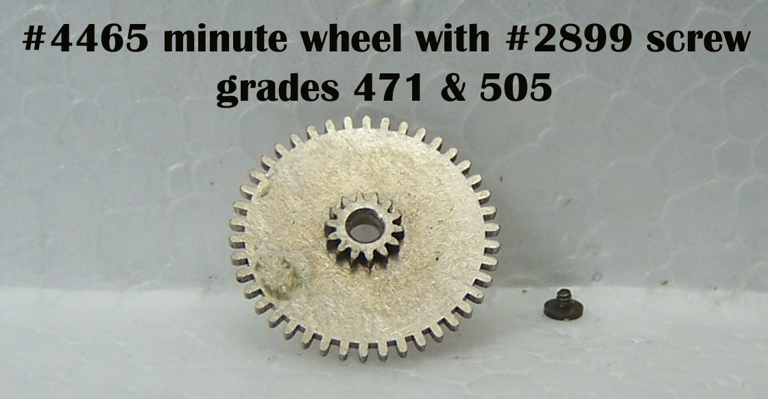 Part# 4465 minute wheel for grades 471,505