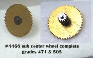 part# 4468 sub center wheel complete for grade 471,505