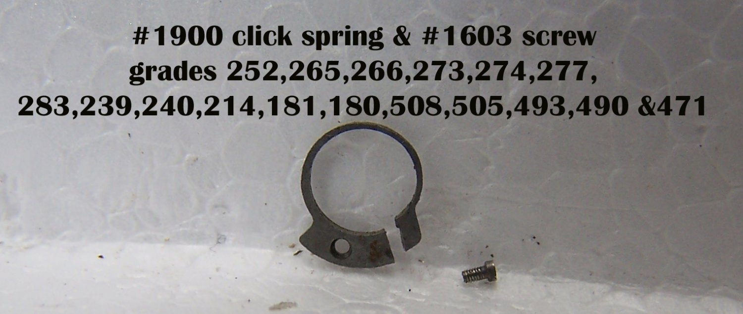 #1900 click spring , fits 16 grades  seen in photo