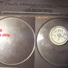 18 4/16 Ligne or 412mm chipped watch crystal