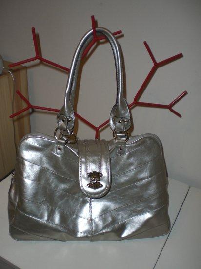 Oversized Silver Handbag