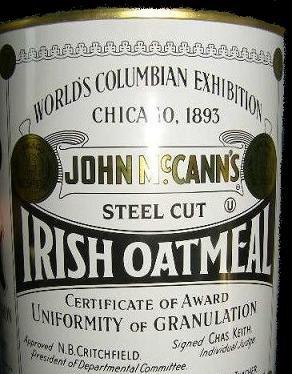 John McCann's Steel Cut Irish Oatmeal in a Collectors Tin