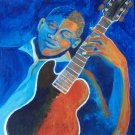 Blue Man with Guitar