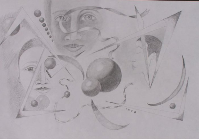 Faces with Ribbons and Spheres