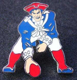 Pat the Patriots Minuteman Style Logo Pin