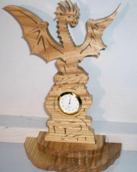 Wooden Mini Dragon Clock