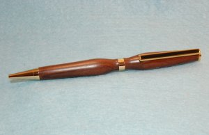 Hand Crafted Bolivian Rose Wood Slimline Pen w/Gold Plating