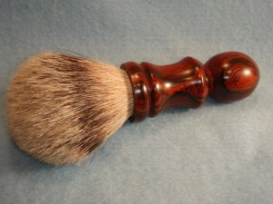 Silver Tip Badger Hair Shaving Brush - Cocobolo (large)