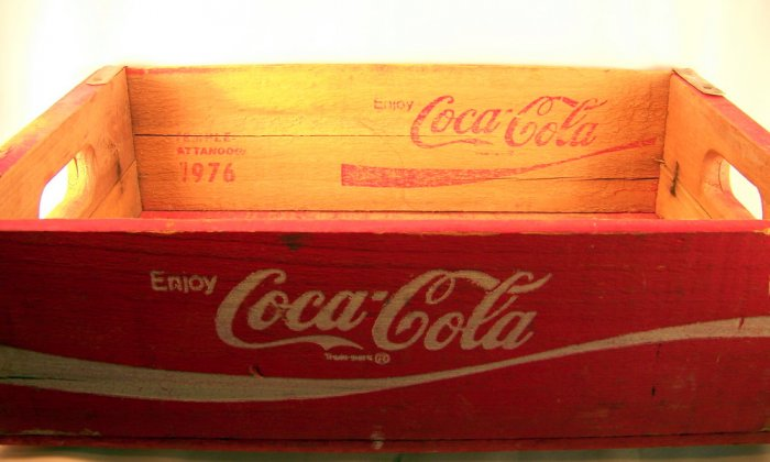 Vintage Red Coke Crate