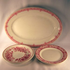 Vintage Diner Platter and Plates