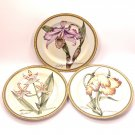 3 Salad/Dessert Plates in the Botanical pattern by American Atelier