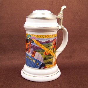 Limited Edition JOE CAMEL Oktoberfest Lidded Collector's Stein