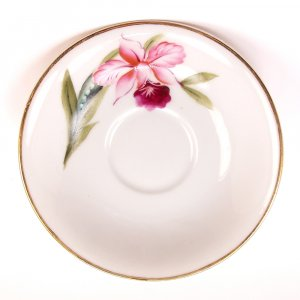 Vintage Merit Made in Occupied Japan Orchid Saucer